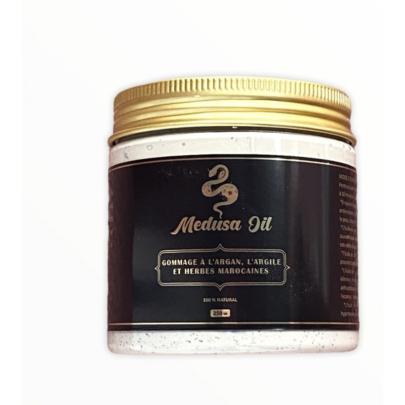 Exfoliation with clay and Moroccan herbs  Face care Medusa Oil